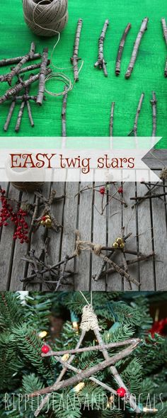 Easy DIY Tree Branch Stars - Ripped Jeans & Bifocals