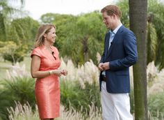 Katie Couric in Max Mara (with Prince Harry) Katie Couric, Prince Harry, Max Mara, Princess Diana, Royalty, Royals, Lady Diana