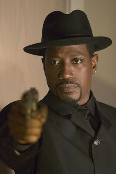 Wesley Snipes In just about any of his movies, male actor, hat, gun, action, celeb, famous, portrait, photo