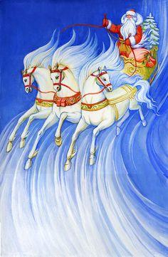Просмотреть иллюстрацию тройка из сообщества русскоязычных художников автора Svetlana Makrushina в стилях: Книжная графика, нарисованная техниками: Темпера.
