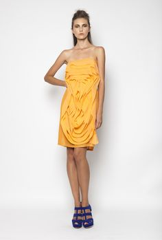 CHRISTOS COSTARELLOS SS12 Silk Chiffon, Seaquined Mini Dress Christos Costarellos, Silk Chiffon, Fashion Outfits, Womens Fashion, Ready To Wear, Shoulder Dress, Spring Summer, House Styles, Mini