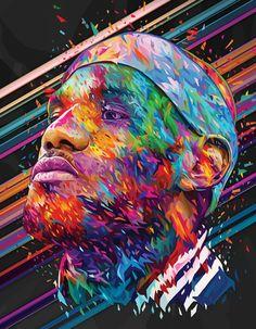 LeBron James 'Rivista Ufficiale NBA 100' Portrait