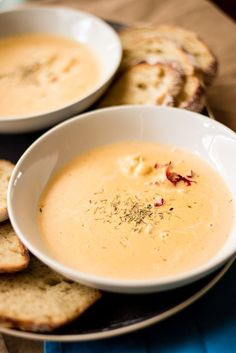 Image and recipe of Easy Lobster Bisque by Personal Chef, Lacey Stevens-Baier, of Sweet Pea Chef, and the food blog, a sweet pea chef... #lobster #bisque #soups
