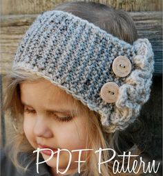 Knitting PATTERN-The Dawsyn Warmer Toddler Child by Thevelvetacorn
