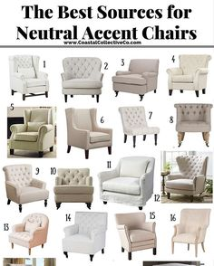 Here is a great list of go-to neutral chair sourses.for you on CoastalCollectiveCo.com