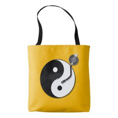 YIN AND YANG TURNTABLE TOTE BAG - white gifts elegant diy gift ideas