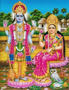 Vishnu and Lakshmi (via Dolls of India)