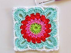 MES FAVORIS TRICOT-CROCHET: Tuto crochet : un joli carré granny