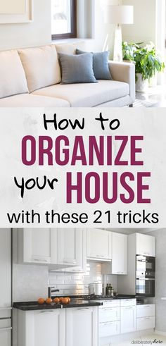 21 habits of people with organized homes. How to organize your house with these easy home organization tips. Home organization tricks for when youre overwhelmed by the mess. How to create and organized home and life for busy people. The best organization Organisation Hacks, Diy Organization, Organizing Ideas, Organising, Declutter Your Home, Organize Your Life, Organizing Your Home, Messy House, Trendy Home