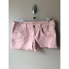 AE Light Pink Jean Shorts Great pop of color for summer, only worn a few times. Like new condition! American Eagle Outfitters Shorts Jean Shorts