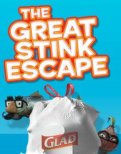 GLAD Great Stink Escape Game: Enter to Win a VISA Gift Card  - http://www.dealiciousmom.com/glad-great-stink-escape-game-enter-win-visa-gift-card/