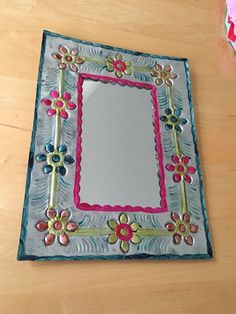 :D❤️Mexican Painted Tin Mirror