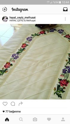 HUZUR SOKAĞI (Yaşamaya Değer Hobiler) Hand Embroidery Patterns, Machine Embroidery, Love In Islam, Towel Crafts, Prayer Rug, Diy And Crafts, Projects To Try, Prayers, Cross Stitch