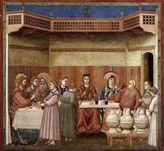 Giotto Nozze di Canan 1303-1305 Affresco Padova Cappella degli Scrovegni