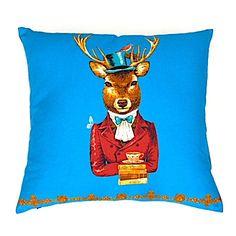 Reindeer Cushion Cover. Fun Decorative Deer Cushion by OnHighat5
