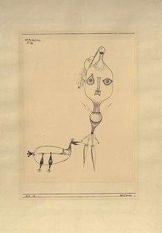 Paul Klee 'Glasfiguren' (Glass Figures)  1923 Pen on paper on cardboard