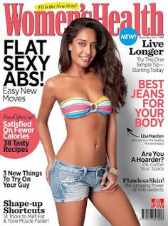 Lisa Haydon on The Cover of Women's Health Magazine – September 2012. | Bollywood Cleavage