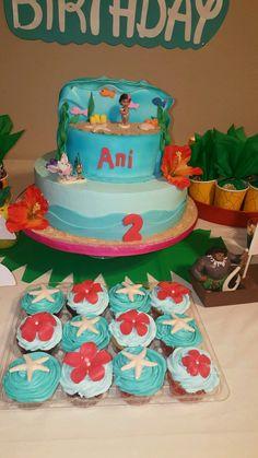 Moana Birthday Cake #Moana #Hawaiian #SeaLife