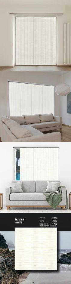 Blinds And Shades 20585 For Sliding Glass Doors Vertical Cordless Shade White 80 W X