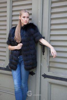 Fox Fur jacket.. LEAGANI MS