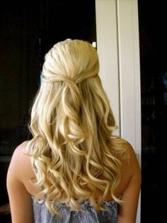 half up half down hairstyles with curls   Half-up and Styled Down Hair Photo Gallery - Down and Half-up Styled ... by Darío SP