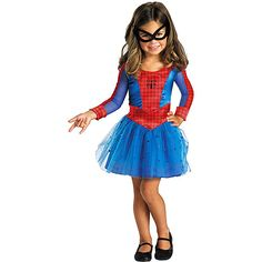 I think Harper wants to be spidergirl for Halloween. Definitely NOT buying this cheap piece o' crap but using it for a point of reference for the amazing version I'll make her!