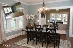 1937 Craftsman Home Gets a Makeover, Fixer-Upper Style Pretty! A 1937 Craftsman Home Gets a Makeover, Fixer-Upper Style Country Dining Tables, French Country Dining Room, Dining Table Chairs, Wood Chairs, Dining Area, Small Dining, Sofa Tables, Dining Furniture, Country Kitchen