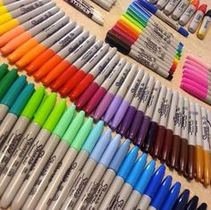 Find images and videos about colors and Sharpie on We Heart It - the app to get lost in what you love. Stationary Store, Stationary School, Stationery Items, Cute Stationery, Arte Sharpie, Sharpie Markers, Sharpies, Sharpie Colors, Marker Storage