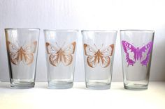 Screen printed dollar store glasses