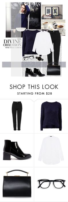 """#384"" by blacksky000 ❤ liked on Polyvore featuring Oris, Spy Optic, Topshop, Steffen Schraut, Handle and Vera Wang"