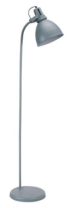 Vloerlamp 101: stoere industriële staande lamp, in blauw en grijs verkrijgbaar #101woonideeen #leenbakker