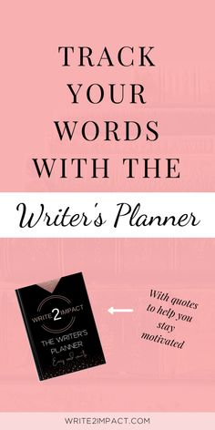 Find writing inspiration and get your write your book faster with The Writer's Planner. Use it to track your words, plan and reflect as you get the words writing. Find quotes to keep you inspired and encouraged and write your book faster! Writing Plan, Writing Advice, Blog Writing, Writing A Book, Writing Prompts, Writer Memes, Writer Quotes, Writing Problems, Book Outline