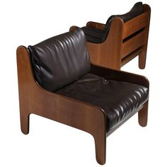 """Set of Two """"Baronet"""" Easy Chairs by Marco Zanuso for Arflex"""