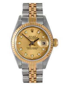 Rolex Womens Datejust 1970s Diamond Watch--- ya ok i'll take it