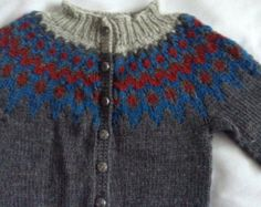 Made to order Icelandic wool kids knit sweater jumper by Klettur