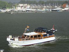 Super van Craft. Model 13,80. Year 1987. Jachtwerf Klaassen Voorschoten, The Netherlands. Pictured in front of Jachthaven De Brasem
