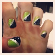 seahawks nails - Google Search