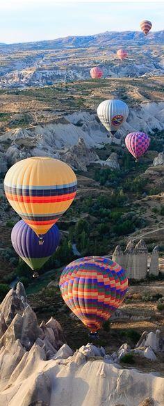 Go hot air ballooning in Cappadocia, Turkey