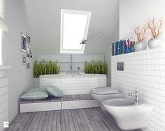 Średnia łazienka na poddaszu, styl skandynawski - zdjęcie od FORMA - Pracownia…
