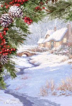 AЯT (Искусство) написал: Время Рождества - поры чудесной ... Художник Richard MacNeil