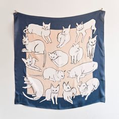 silk cat scarf, want it!