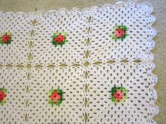 Crochet White w Flowers Handmade Trivets  by JewelsOfHighElegance, $8.25