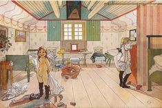 Carl Larsson (1859-1928): Mammas Och Småflickornas Rum (Mamma's and the Small Girls' Room), 1897