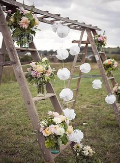 creative country rustic wedding altar for outdoor wedding ideas