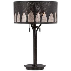 Quoizel Vega Mica Bronze Table Lamp