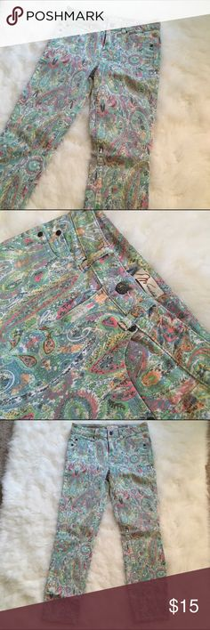 Miraclebody Paisley Floral Print Jeans Mint Super flattering. Run a little big. Miraclebody Jeans