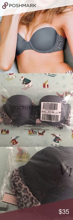 🆕 Victoria's Secret Sexy Tee Multiway Bra 🌿 New with Tags! 🌿 Size: 36B - Color: Grey w/ Leopard Print Style: Sexy Tee Multiway Bra  Brand new in original sealed packaging. Can be worn in different ways. Perfect for any outfit!  🌿  N O   T R A D E S   •   H O L D S  🌿  📦 Q u i c k   S h i p p i n g 📦 Victoria's Secret Intimates & Sleepwear Bras