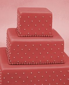 White Dot Shabby Chic Wedding Cake
