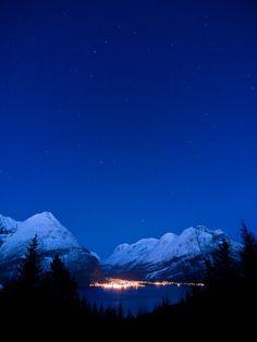 """Sunndalsora, More og Romsdal, Norway - """"Nightfall"""" by hauken87, via Flickr #Norway ☮k☮ #Norge"""