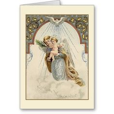 Victorian German Religious Christmas Card